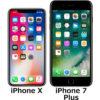 「iPhone X」と「iPhone 7 Plus」の違い - フォトスク